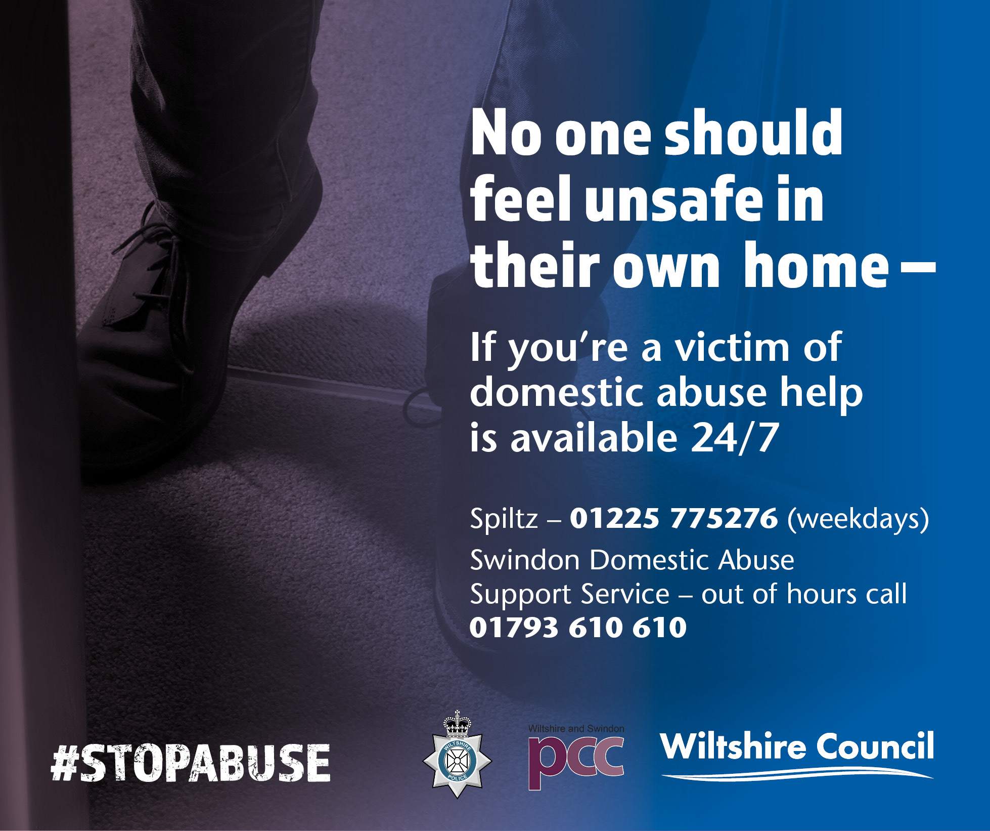 No one should feel unsafe in their own home